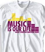 School Band Shirts - Dance Beat desn-313d2