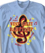 School Band Shirts - Musica desn-131m3