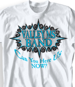 School Band Shirts - Shockwave clas-187s4