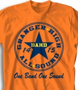 School Band Shirts - All Star Leader desn-327d1