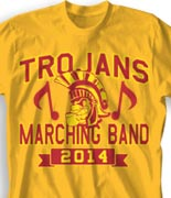School Band Shirts - Mascot Phys Ed clas-829o7