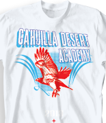 School Spirit T Shirt - red Tail Hawks desn-708r1