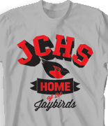 School Spirit T Shirt - Jaybirds Spirit desn-711j2