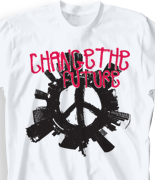 School Spirit T Shirt - City Peace desn-467c1