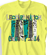 School Spirit T Shirt - Leopard Nation desn-761l1