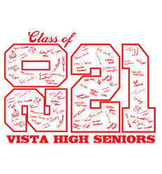 Senior Class Signature Template - Stack Up Year - desn-601u1