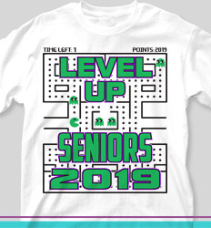 Senior Class T Shirt Design - Pacman Game Over - cool-42p6