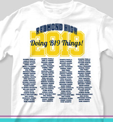 Senior Class T Shirt Design - Name Tradition - cool-145n3