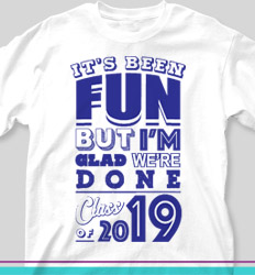 Senior Class T Shirt Design - Fun and Done - cool-273f2