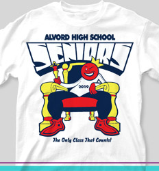 Senior Class T Shirt Design - King of the World - clas-135l1
