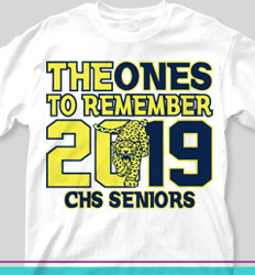 Senior Class T Shirt Design - Ones to Remember - cool-218o7