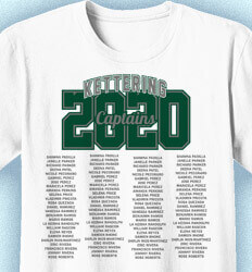 Senior Class T Shirt Design - Name Tradition - cool-145n4