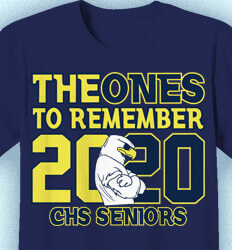 Senior Class T Shirt Design - Ones to Remember - cool-218o9