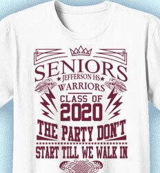 Senior Class T Shirt Design - Exciteable - desn-433f9