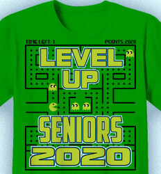 Senior Class T Shirt Design - Pacman Game Over - cool-42p7