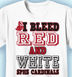 Shirts for Schools - Bleed Red and White - color-136b1