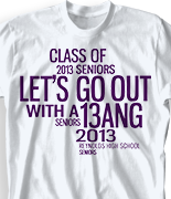 Senior Class T Shirt - Random Words 268u6