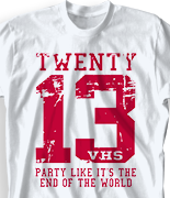 Senior Class T Shirt - Old Jersey clas-448s5