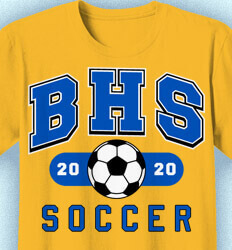 Soccer Shirt Designs - School Soccer - idea-336s1