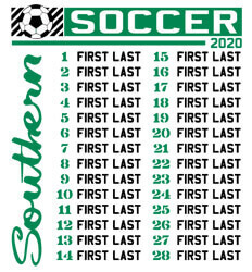 Soccer Shirt Ideas  - Southern List - desn-632s4