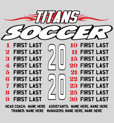 Soccer Shirt Ideas - Tribal Roster - idea-67t2