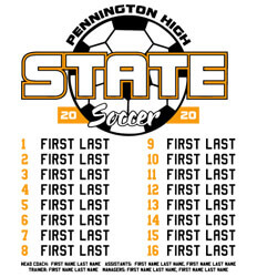 Soccer Shirt Ideas - State Ball Roster - idea-350s1