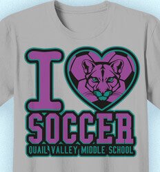 Soccer Team Shirt - Love Soccer Mascot - cool-47l1
