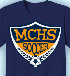 Soccer Team Shirt - Soccer Badge - idea-339s1