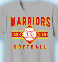 Softball Shirt Designs - Softball Classic - cool-873s1