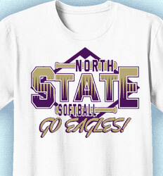 Softball Shirt Designs - State Fastpitch - cool-887s2