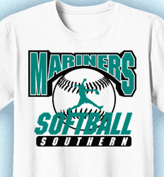 Softball Shirt Designs - Classic Pitch - desn-870c1