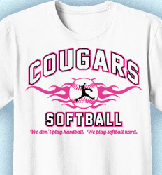 Softball Shirt Designs - Collegiate Heater - desn-892c1