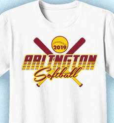 Softball Shirt Designs - Softball All Bats - cool-875s1