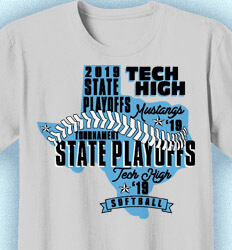 Softball T-shirt Design - State Words - cool-902s1