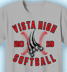 Softball T-shirt Design - Fastpitch Rip - desn-868f2