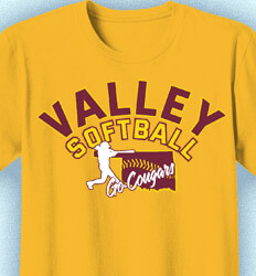Softball T-shirt Design - Softball State Classic - cool-879s1