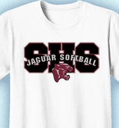 Softball T-shirt Design - Softball Arch - cool-901s1