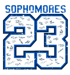 Sophomore Class Shirts Ideas - Old Jersey - clas-445w7
