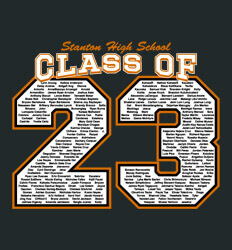 Sophomore Class Shirts Ideas - Big Letter - desn-351x2