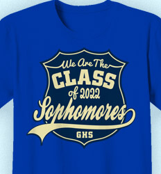 Sophomore Class Shirts - Sophomore Shield - idea-397s1