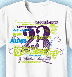 Sophomore Class Shirts - Words - clas-956h9