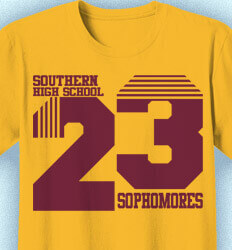 Sophomore Class Shirts - Throwback Year - idea-438t1