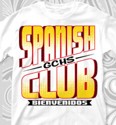 Spanish Club T Shirt Designs - Transition Week - cool-112t3