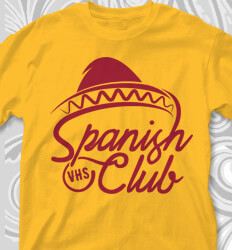 Spanish Club T Shirt Designs - Sombrero Style - cool-777s1