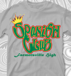 2f8bf86f Spanish Club T Shirt Designs - Latino Letters - cool-755l1