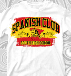 Spanish Club T Shirt Designs - Spanish Style Arch - cool-749s1