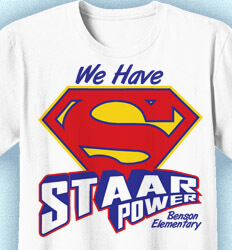 STAAR Shirts - STAAR Power Logo - cool-961s1