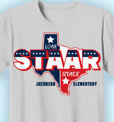 STAAR Shirts - Lone STAAR State - cool-963l1