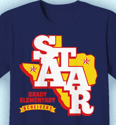 STAAR T Shirts - STAAR State Logo - cool-965s1