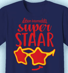 STAAR T Shirts - Super STAAR Cool - cool-971s1